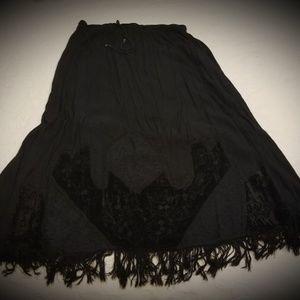 Dresses & Skirts - Black Gauze Skirt